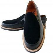 Orbit Black Suède and Black Leather