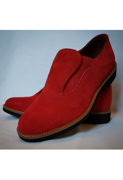 Shu-Lok Shoe Red Suede