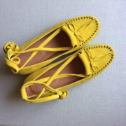 Yellow Black Crepe Sole