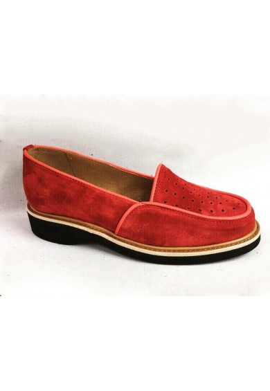 Dot Red Suede