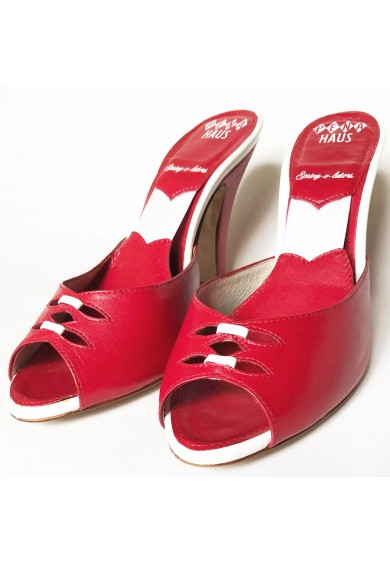 Spring-o-lators Red Leather with White