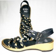 Rita Black, Black, Gold Leather