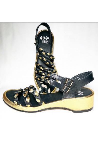 Rita Black, Black, Gold Leather