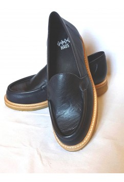 Audrey Loafers Navy Blue Crepe Sole