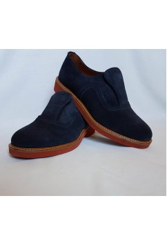 Shu-Lok Shoe Navy Blue Suede