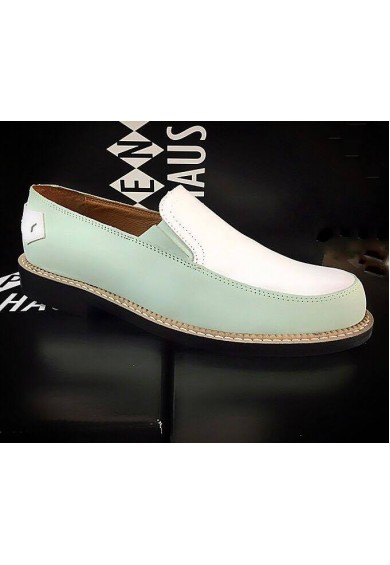 Orbit Light Green and White Leather