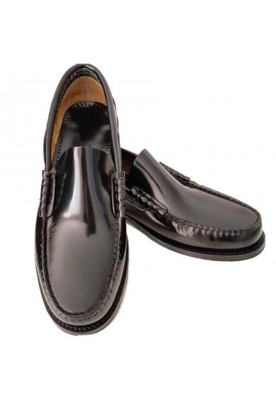 College Black Leather