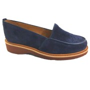 Dot Navy Blue Suede