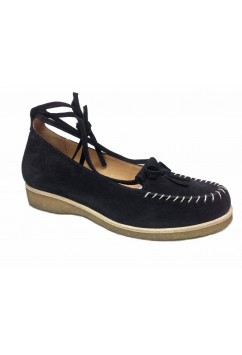 Grace Black Suede Crepe Sole