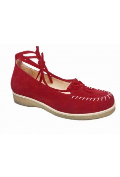 Grace Red Suede Crepe Sole