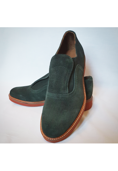 Shu-Lok Shoe Green Suede