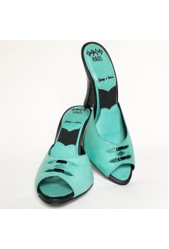 Spring-o-lators Sea Green Leather with Black