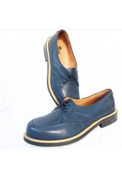 Satellite Navy Blue Leather
