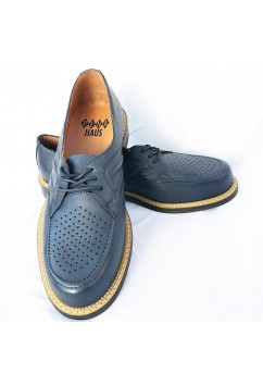 Satellite Navy Blue Leather