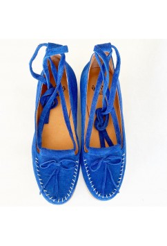 Grace Medium Blue Suede
