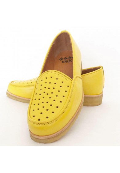 Dot Yellow Leather
