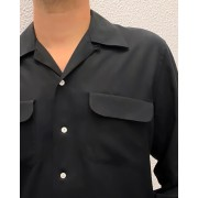 Flap Pocket Black Gabardine