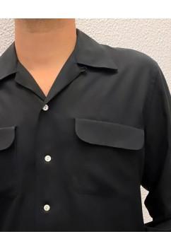 Flap Pocket Black Gabardine
