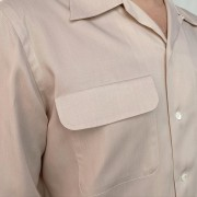 Flap Pocket Off White Gabardine