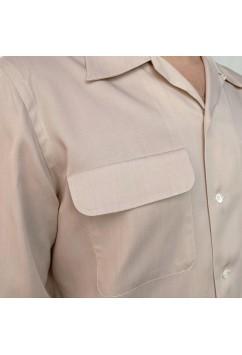 Flap Pocket Off White Gabardine