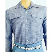 Flap Pocket Blue