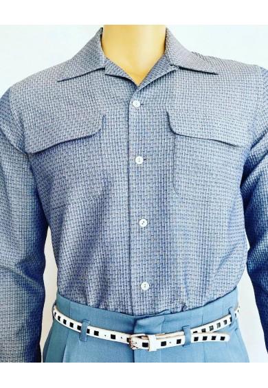 Flap Pocket Blue
