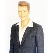Suit Black with White Flecks