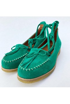 Grace Medium Green Suede Crepe Sole