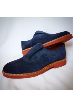 Shu-Lok Shoe Navy Blue Suede