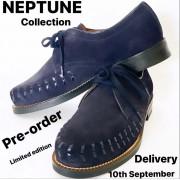 Neptune Navy Blue Suede