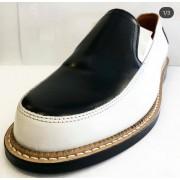Orbit White and Black Leather