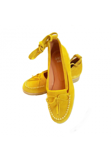 Grace Yellow Suede Crepe Sole