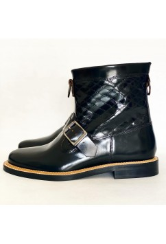 Santos Boots Black Leather