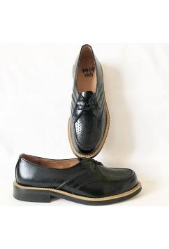 Satellite Black Leather