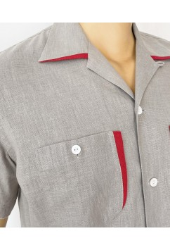 Two Tone  Grey & Red