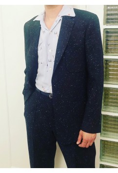 Suit  Navy Flecked