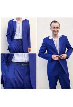 Suit Plain Blue