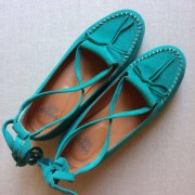 Grace Turquoise Suede Crepe Sole
