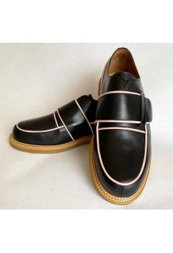 Vargas Black and Pink Leather