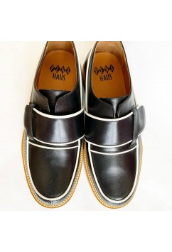 Vargas Black and White Leather
