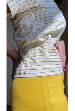 Kelly Yellow with White