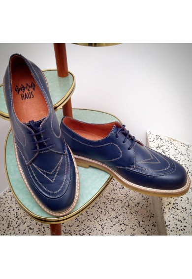 Boomerang Navy Leather