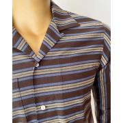 Striped Brown & Blue