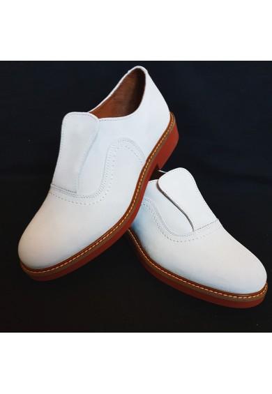 Shu-Lok Shoe White Suede