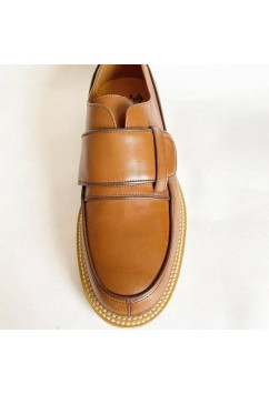 Vargas Camel and Brown Leather